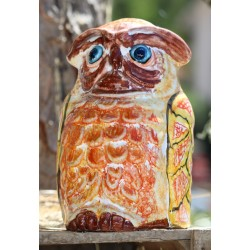 Búho de cerámica Deruta, pintado a mano