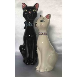 Deruta ceramic cat, hand painted