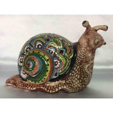 Deruta ceramic snail, hand painted