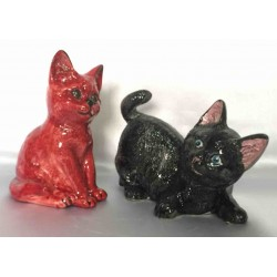 Deruta ceramic kitten, hand painted